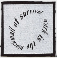 Jacqueline Lachance: Work is the blackmail of survival (circle patch)