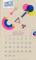 Isometric Risograph Calendar 2017