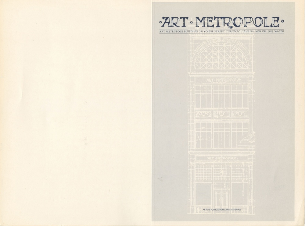 AMP7402 Art Metropole. Retail Catalogue Covers, No.1-3