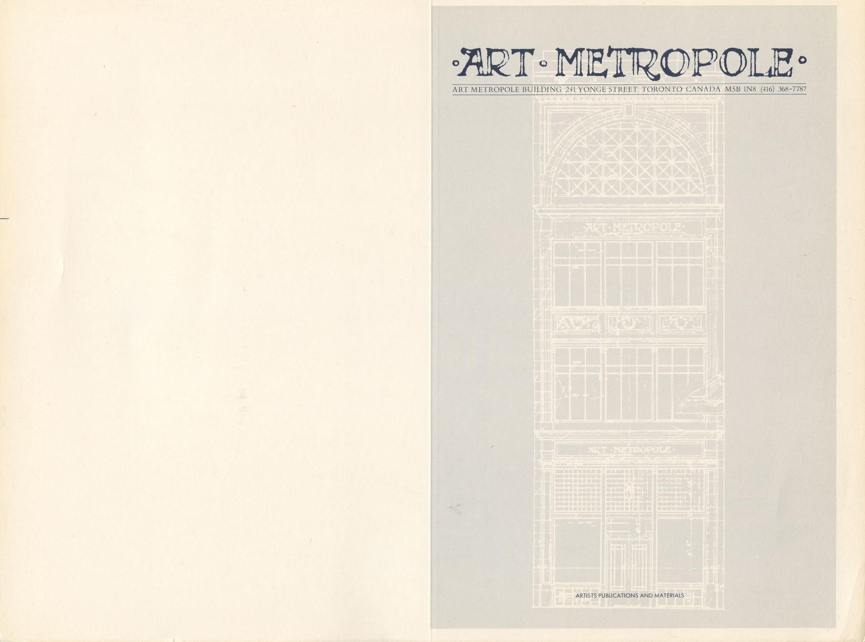 Art Metropole. Retail Catalogue Covers, No.1-3