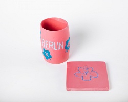Philip Ocampo: Souvenir Sculptures (Berlin): cup + coaster