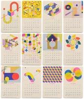 Jp King: Isometric Risograph Calendar 2018