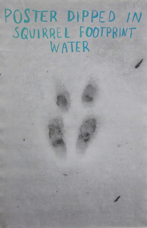 Poster Dipped in Squirrel Footprint Water01