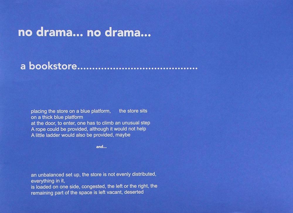 no drama…no drama…a bookstore