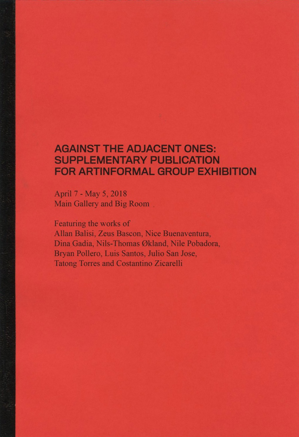 Against The Adjacent Ones: Supplemantary publication for Artinfo