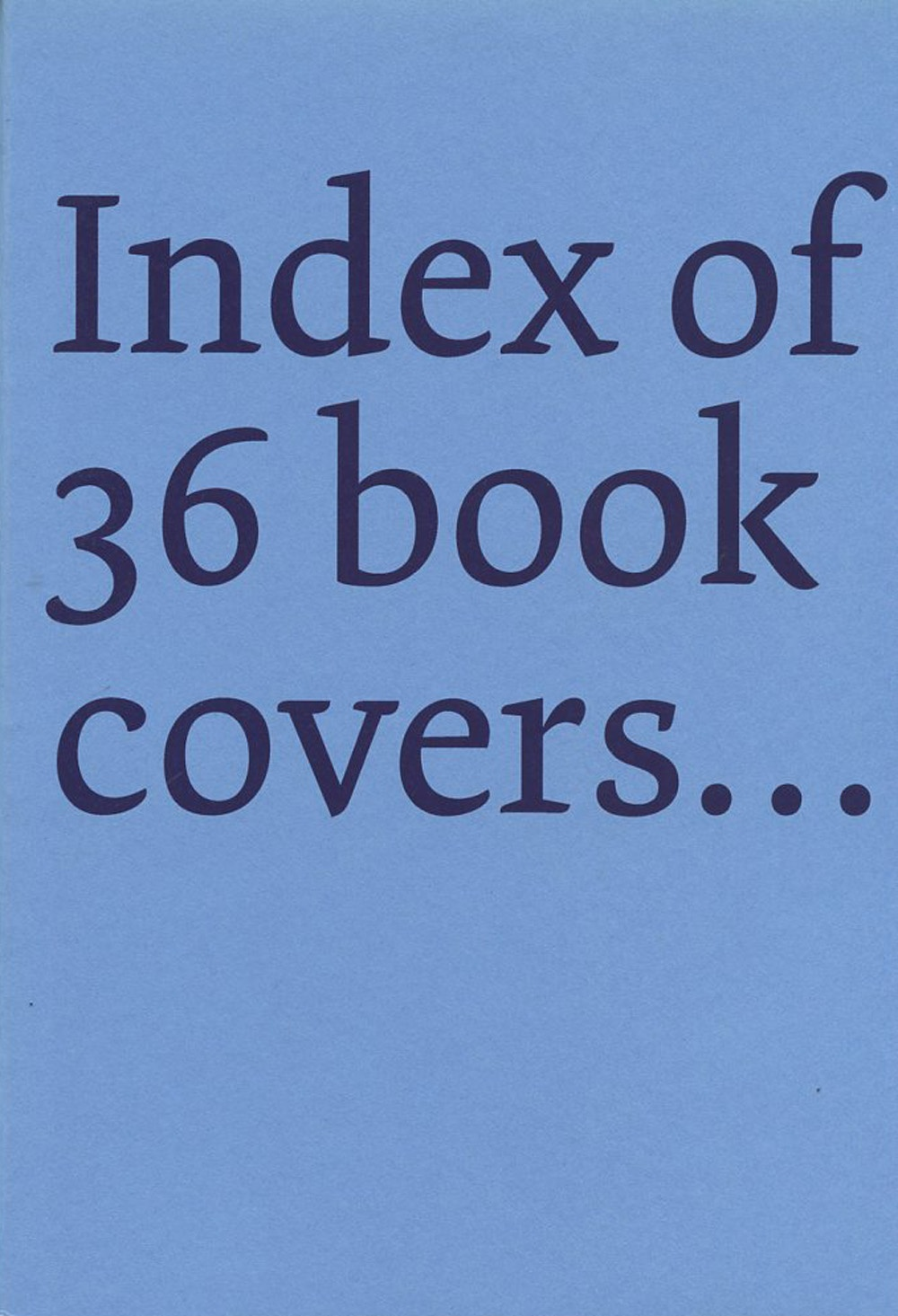 Derek Sullivan: Index of 36 book covers