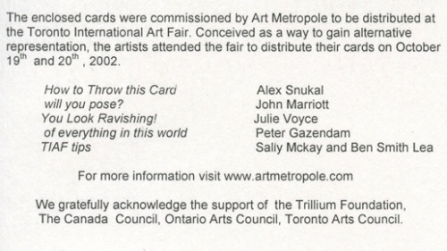 AMP0202.6 Art Metropole Business Card Project for Toronto Intern