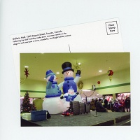 Shari Kasman: Galleria Mall Snowmen Postcard