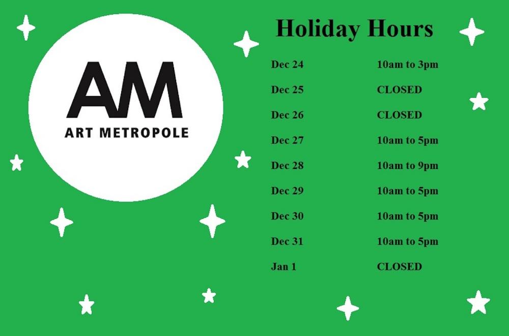 Art Met Holiday Hours