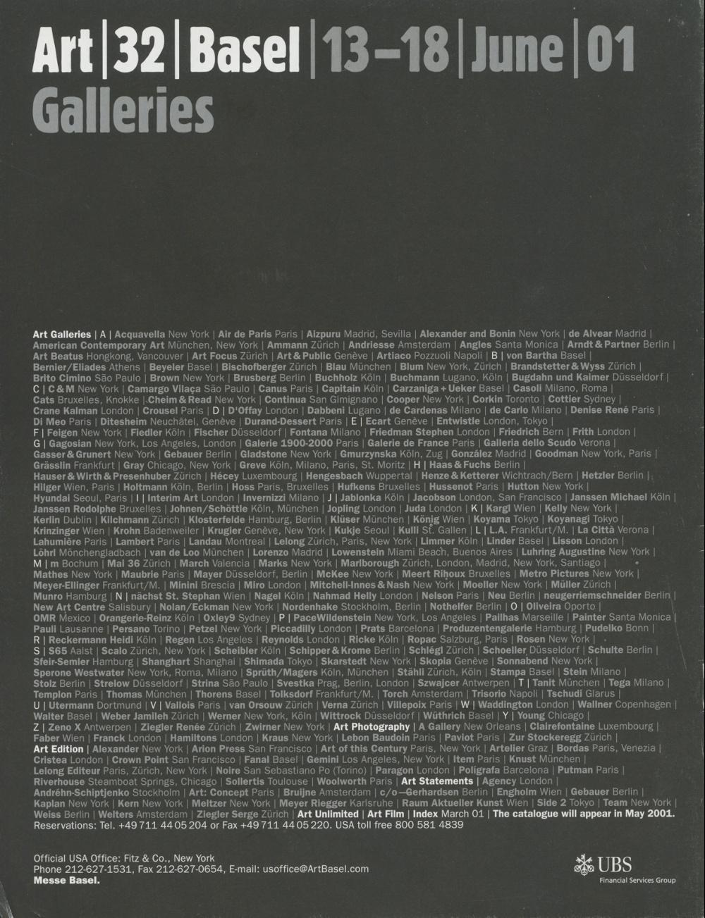 AMP0101 Art Metropole Retail Catalogue 23/June 2001