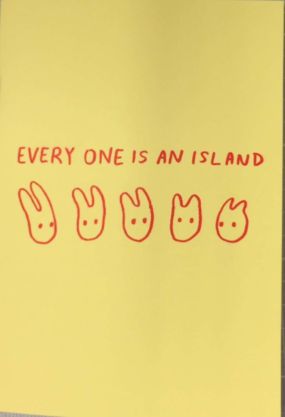 every one is an island