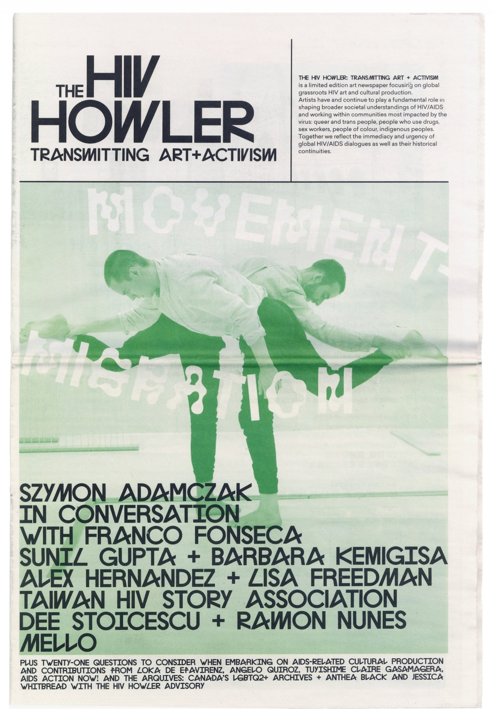 The HIV Howler: Transmitting Art and Activism, Issue 4: Movement