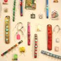 Sandy Plotnikoff - Snap Bracelet; 2 rows; wide cuffs
