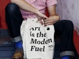 Art is the Modern Fuel Tote Bag