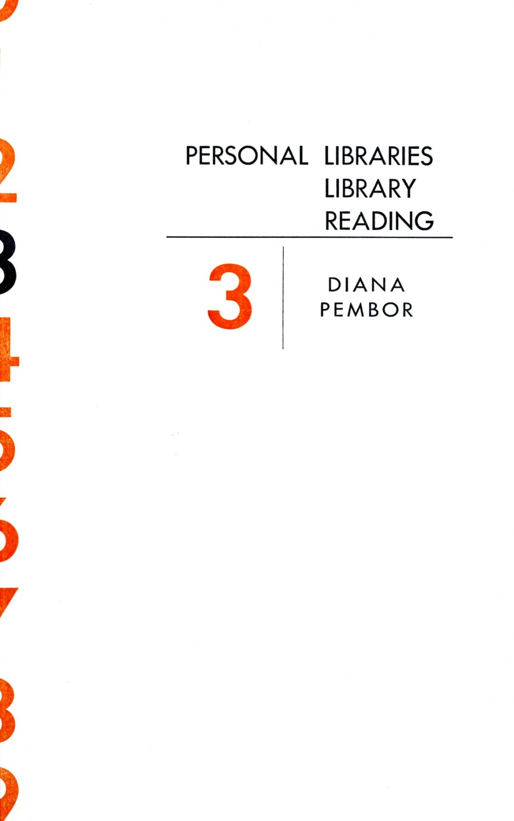 Personal Libraries Library Reading No. 3