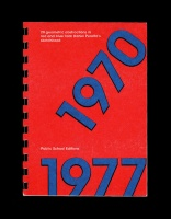 1970-1977  20 Geometric Abstractions in Red and Blue from Daniel Peralta's Sketchbook