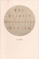 Christian Julien Siroyt: The Trinity University Review CXXIII