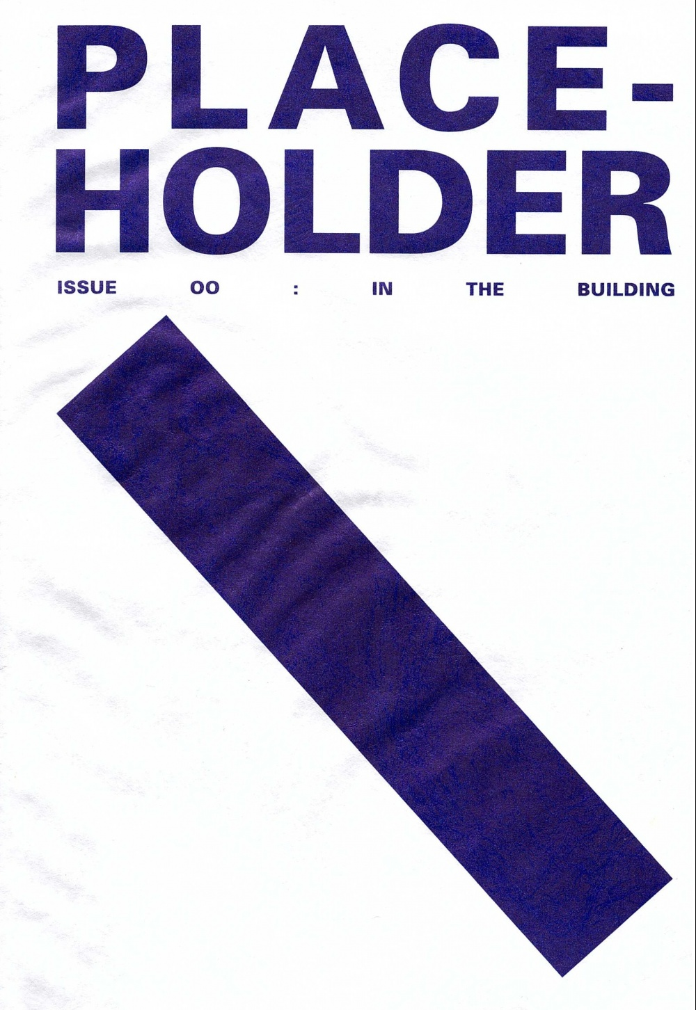 PLACE-HOLDER ISSUE 00: In The Building