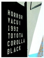 Horror Vacui: 1992 Toyota Corolla(BLACK)