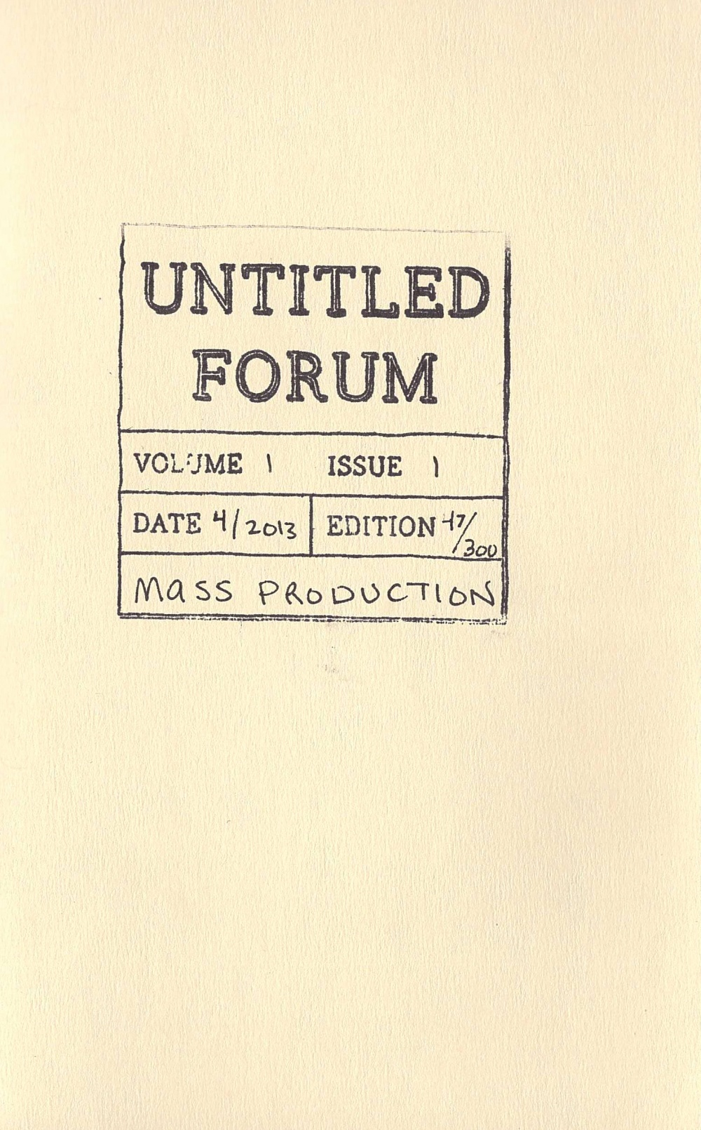Art Criticism & Other Short Stores, Issue #2