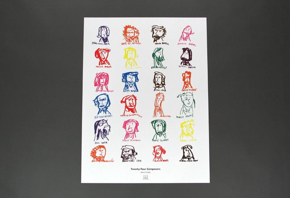 Twenty-Four Composers Poster