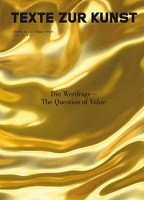 Texte Zur Kunst Het 88: Die Wertfrage - The Question of Value