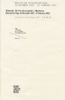 Adam Overton: Wikipedia: The Free Encylopedia//Meditation