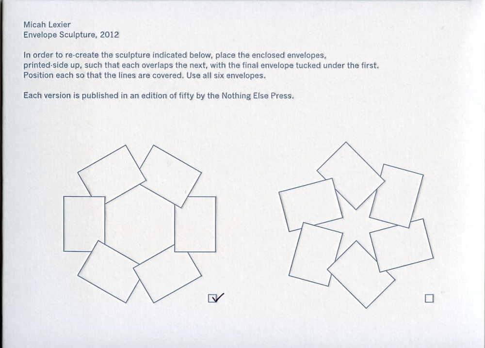 Envelope sculpture (Hex)