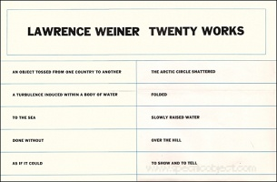 Lawrence Weiner : Twenty Works