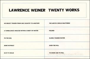 Lawrence Weiner : TwentyWorks