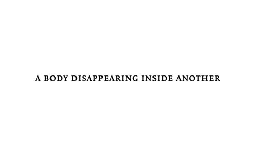 Stephen Ellwood - A Body Disappearing Inside Another