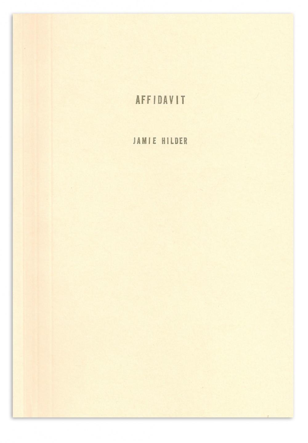 Affidavit by Jamie Hilder
