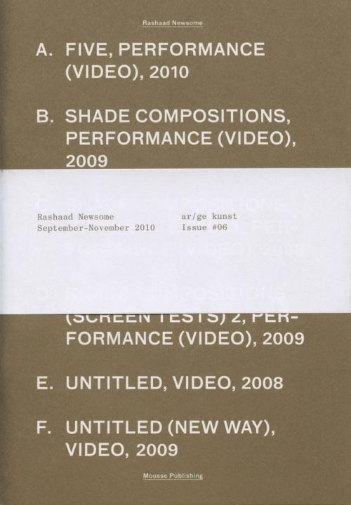 ar/ge kunst issue #06: Rashaad Newsome