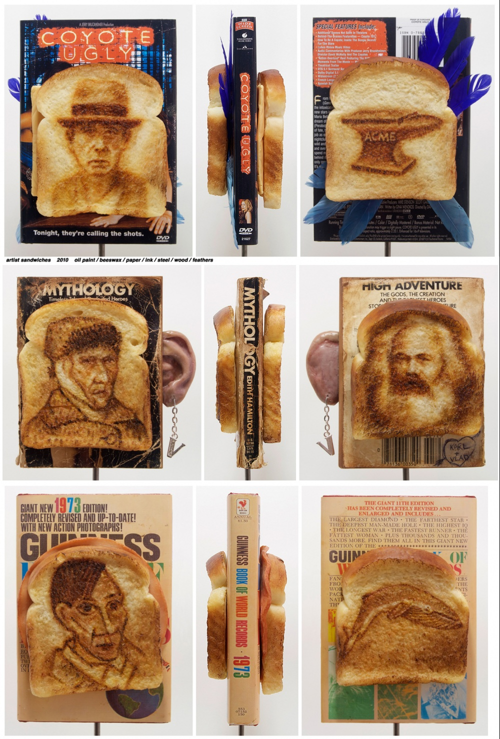 Artist Book Sandwiches (Beuys, van Gogh, Picasso)