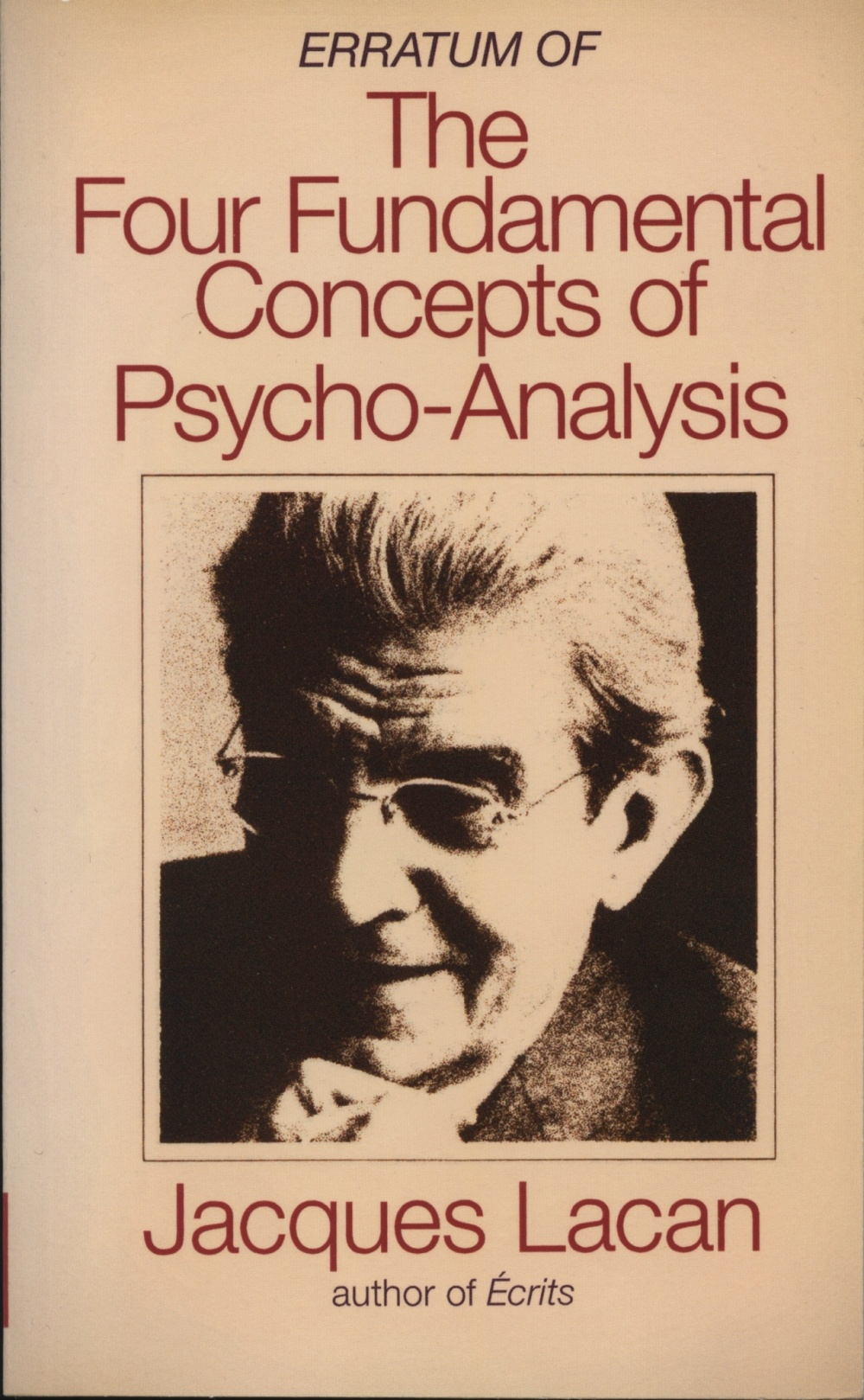 Erratum of the Four Fundamental Concepts of Psycho-Analysis