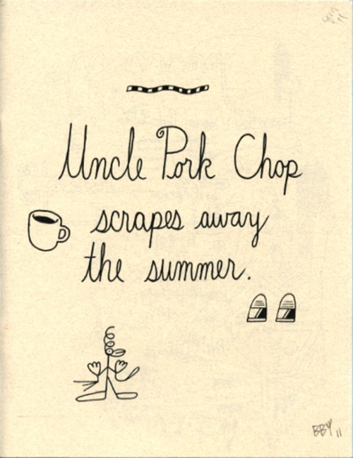 Uncle Pork Chop scrapes away the summer