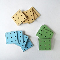 Deluxe Pegboard Coasters