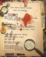 CCMC and Mani Mazinani: Murder Mystery Concert poster for November 24 -CCMC,