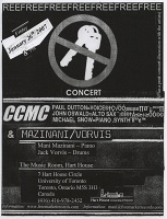 CCMC and Mani Mazinani: No Keys concert poster