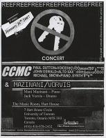 CCMC and Mani Mazinani: No Keys concertposter