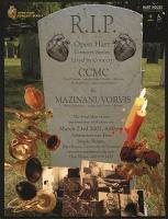 CCMC and Mani Mazinani: R.I.P. Open Hart Concertposter