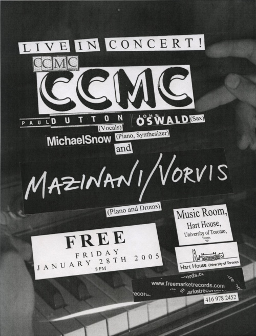 Concert Poster (Piano) for January 28th 2005 performance