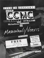 CCMC and Mani Mazinani: Concert Poster (Piano) for January 28th 2005 performance