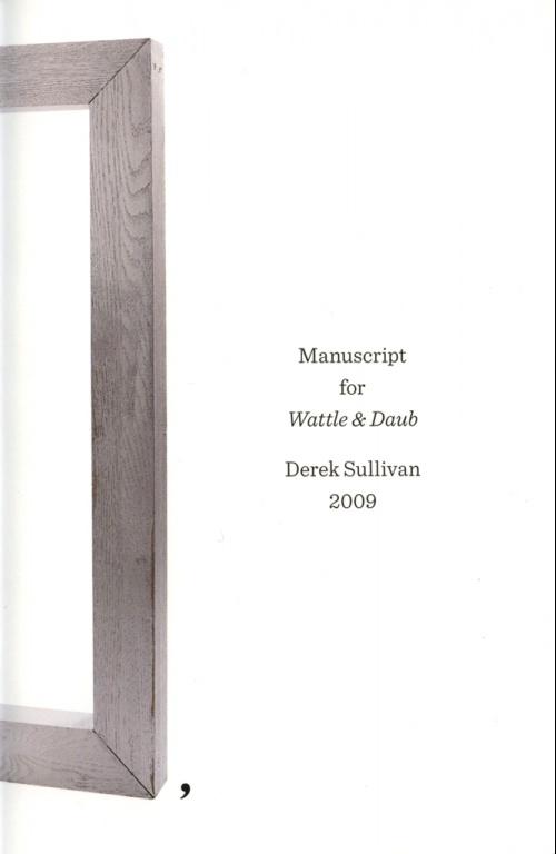 Manuscript for Wattle & Daub,