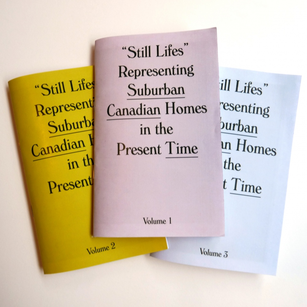 Still Lifes Representing Suburban Canadian Homes in the Present