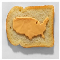 Tibi Tibi Neuspiel: Processed Cheese Maps on Toast