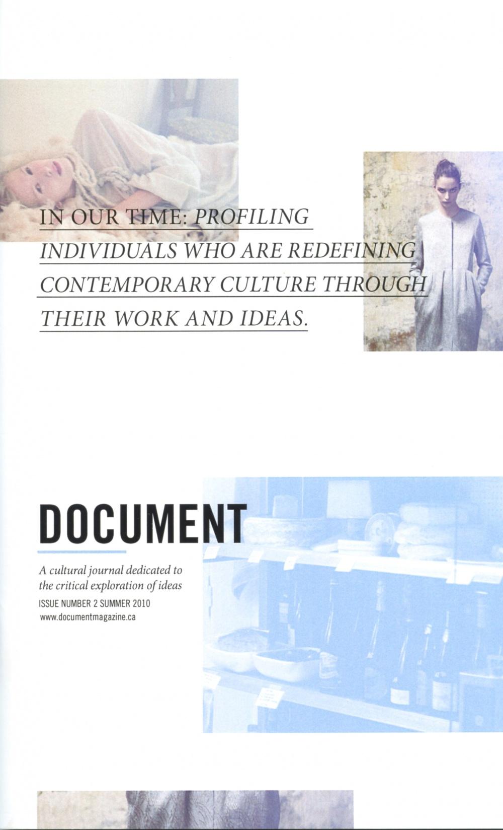 Document, Issue #2, Summer 2010