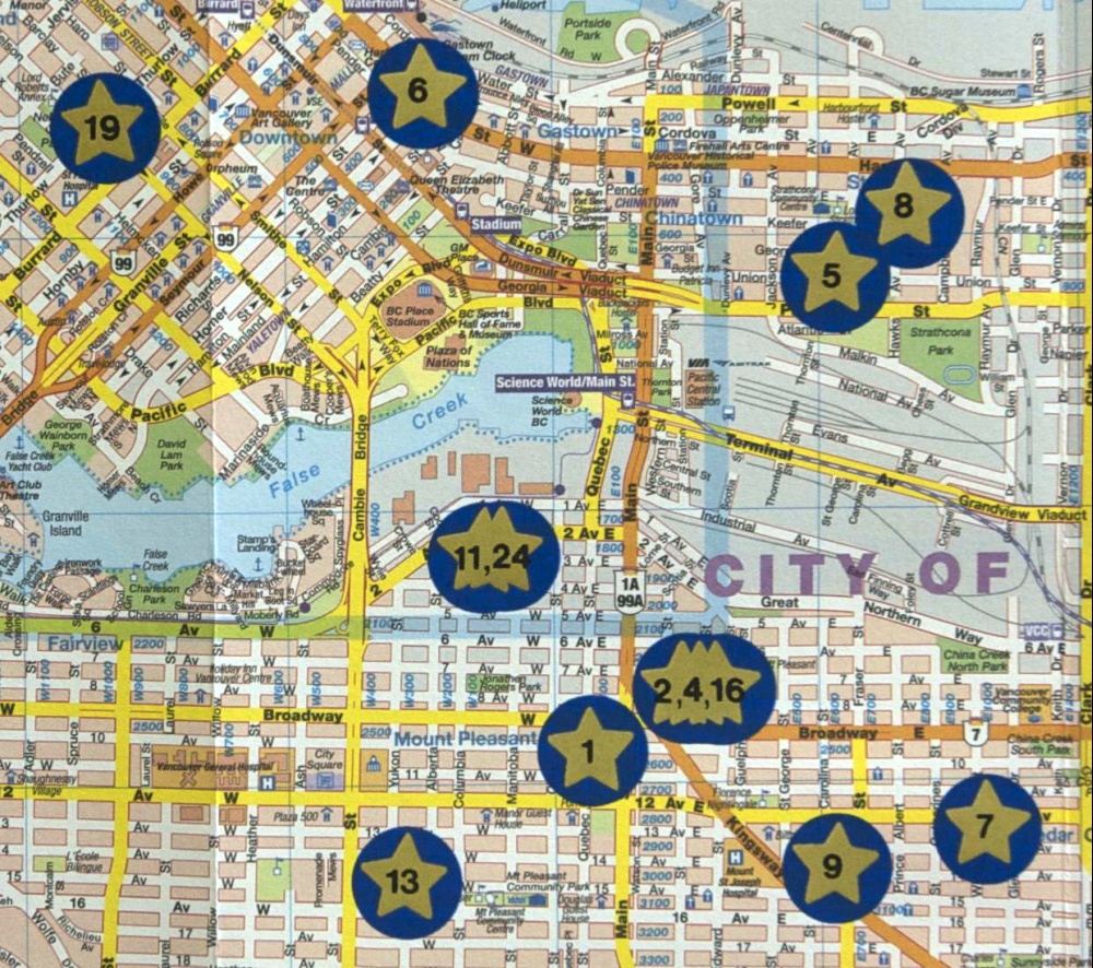 Map to the Stars (Montreal, Toronto and Vancouver) , 2007