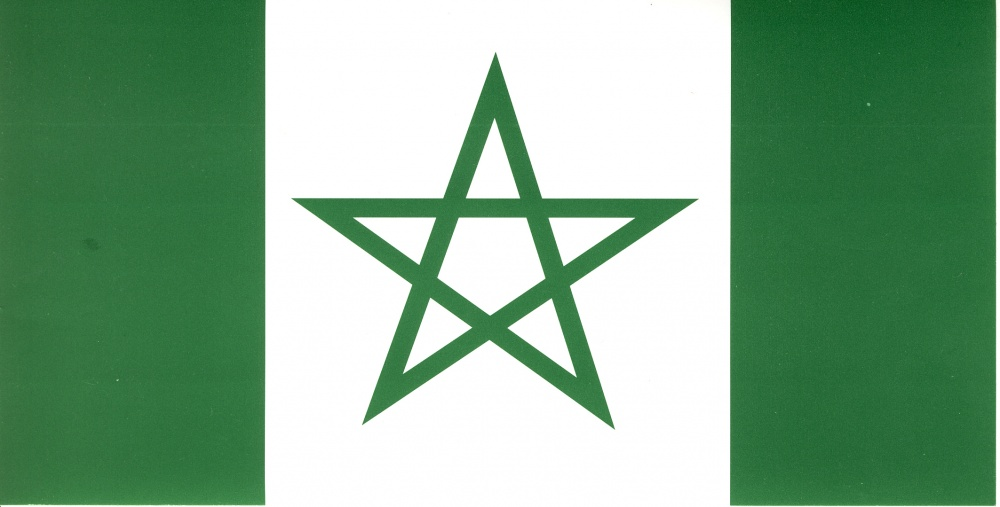 Green Pentagram sticker