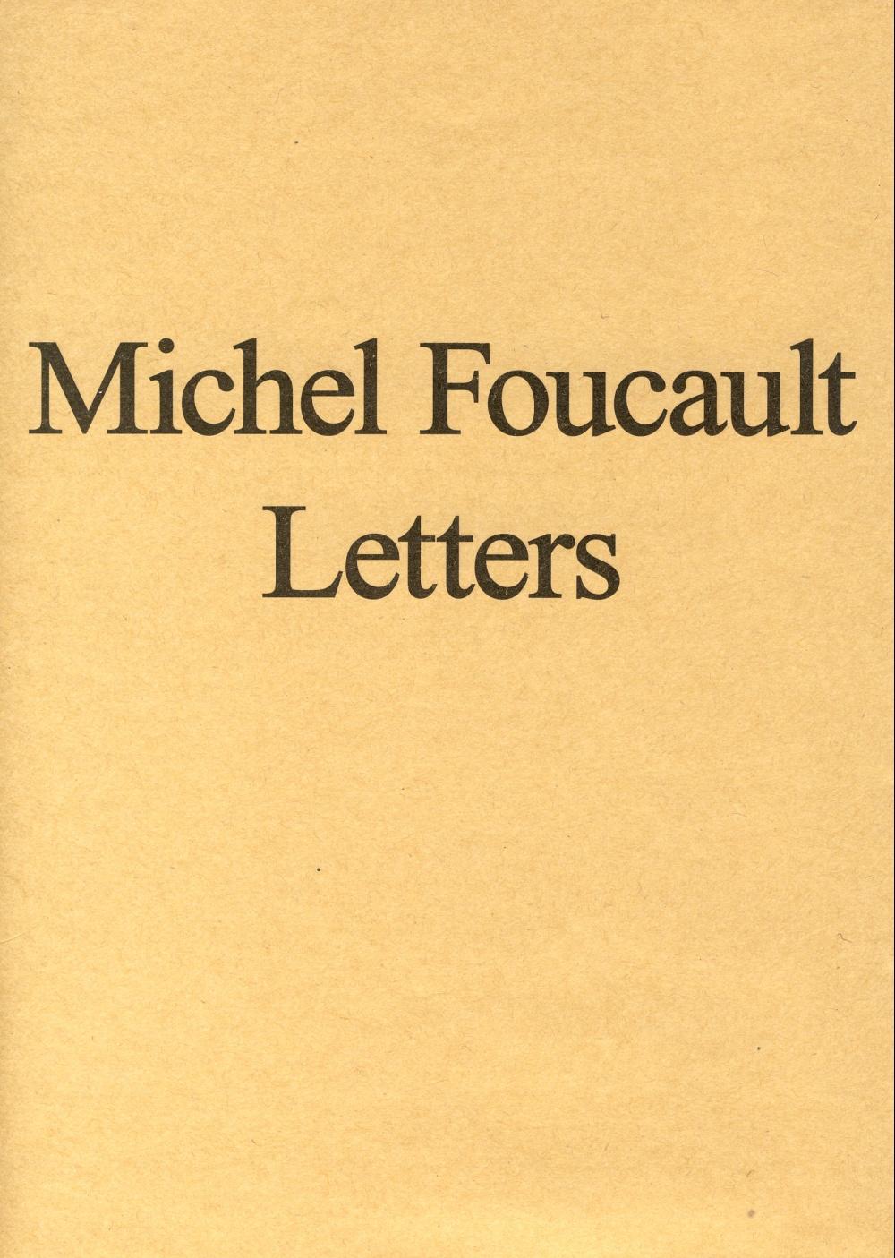 Michel Foucault Letters